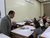 فيديو وصور .. 115 طالبا يجرون اختبارات القدرات بكلية فنون جميلة جامعة أسيوط