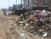 صور.. رفع أطنان القمامة من جانبى شريط السكة الحديد بالمحلة