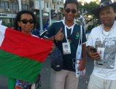 صور .. مشجعو مدغشقر : مصر رائعة وزرنا الأهرامات وأكلنا ملوخية بالأرانب