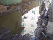 أهالى قرية نوسا الغيط بالدقهلية يشكون تراكم مياه الصرف الصحى
