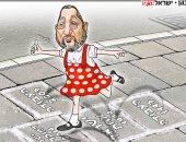 كاريكاتير إسرائيلى : ايهود بارك مراهق سياسياً بعد عودته للحياة السياسية من جديد