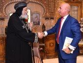 البابا تواضروس يلتقى  نائب رئيس اتحاد المصريين للخارج ويبحثان تنشيط السياحة الدينية