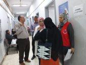 وفد من وزارة الصحة يتفقد فاعليات المبادرة الرئاسية لصحة المرأة
