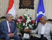 صور.. محافظ السويس يستقبل سفير الجزائر بديوان عام المحافظة
