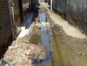 أهالى قرية سحيم فى الغربية يشكون غرق مياه الصرف الصحى للشوارع والمنازل