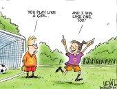 كاريكاتير USA Today يحتفى بفوز سيدات أمريكا بكأس العالم