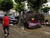 الفيضانات تضرب إسبانيا وتتسبب فى خسائر كبيرة