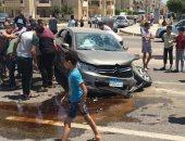 إصابة 4 أشخاص فى حادث سيارة بدمياط الجديدة