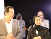 نورة الكعبي: تشرفنا بزيارة بينالي القاهرة في نسخته الـ 13.. صور
