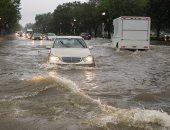 الأمطار تتساقط فى واشنطن.. شاهد تدفق المياه فى الشوارع ومترو الأنفاق