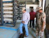 محافظ شمال سيناء يتفقد الأعمال الإنشائيه لمحطةً تحلية المياه بالشيخ زويد