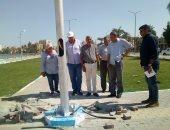 استمرار أعمال شفط المياه الجوفية والصرف بالسلام 1 فى السويس (صور)