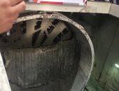 شاهد.. لحظة بدء العمل بماكينة الحفر العملاقة بمحطة مترو جمال عبدالناصر