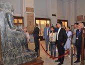 صور.. رئيس مدغشقر يبدى إعجابه بآثار المتحف المصرى بالتحرير