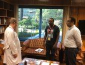 مستشفى وادى النيل يستقبل مدير منتخب الكاميرون الطبى لبحث التعاون طبيا