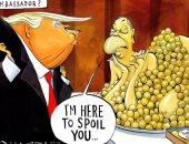 كاريكاتير التايمز يتناول أزمة سفير بريطانيا فى واشنطن مع ترامب