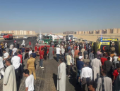 مصرع شخص وإصابة 10 آخرين فى حادث تصادم سيارة ميكروباص مع نقل بأسيوط