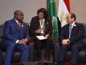 السيسي: نتطلع للارتقاء بمستوى التنسيق والتشاور السياسي مع الكونغو