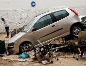 دمار وخراب فى إسبانيا بسبب فيضان نهر ثيداكوس بعد أمطار غزيرة