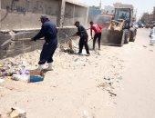 رفع 45 طن مخلفات من مدينة بئر العبد بشمال سيناء