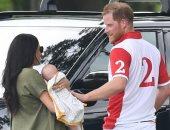 ميجان ماركل تصطحب مولودها أرتشى لمشاهدة الأمير هارى فى مباراة بولو.. صور