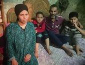 صور.. مأساة أسرة ببنى سويف تقيم فى حجرة واحدة دون مصدر دخل