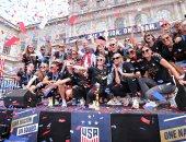 فيديو.. لحظة استقبال لاعبات المنتخب الأمريكى المتوج بلقب أبطال العالم