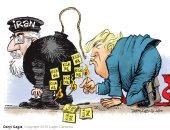 """فى كاريكاتير """"ذا ويك"""".. ترامب يشعل فتيل الحرب مع إيران"""