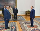 المستشار سعيد مرعى يؤدى اليمين أمام السيسى رئيسًا للمحكمة الدستورية
