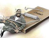 كاريكاتير الصحف الإماراتية.. الحرس الثورى فى مصيدة العقوبات