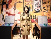 """صور.. الدكتورة رانيا المشاط تزور معرض """"ملكات مصر"""" بواشنطن"""