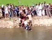 انتشال جثمان غريقين بكفر الشيخ