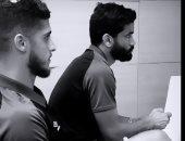 مباراة بلاى ستيشن قوية بين صالح جمعة وأحمد الشيخ فى معسكر الأهلي