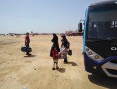 صور .. استمرار نقل المصطافين من ميدان الأربعين إلى شاطئ السويس العام