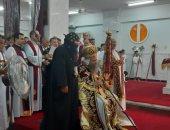 صور.. بدء مراسم تجليس الأنبا ثاؤفيلس أسقفا علي إيبارشية منفلوط في أسيوط