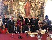 محافظ الإسكندرية يوقع إتفاقية مع عمدة مدينة كاتانيا بصقلية