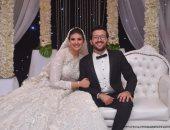 نجوم الرياضة والصحافة والإعلام فى حفل زفاف حامد وجدى وعروسه بسمة حمدى