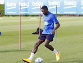 ديمبلى يخوض أول مران مع برشلونة غداً بعد شفائه من الإصابة