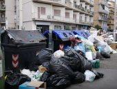 شاهد.. مدينة روما الإيطالية تغرق فى النفايات