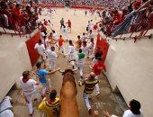 تواصل فعاليات مهرجان سان فيرمين لمصارعة الثيران فى إسبانيا