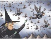 فى كاريكاتير ذا ويك.. ترامب ساحرة شريرة ترسل أعوانها لاعتقال المهاجرين