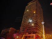 """فيديو.. السيطرة على حريق هائل فى برج دمشق بـ""""البحصة"""" السورية وإصابة 5 باختناق"""