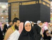 ريهام عبد الغفور تؤدى مناسك العمرة وتعلق: اللهم تقبل