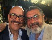 أشرف عبد الباقى يلتقى ماجد الكدوانى ويوجه له كلمات مؤثرة