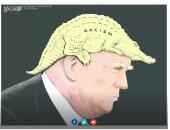 فى كاريكاتير ذا ويك.. العنصرية تسيطر على عقل ترامب