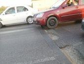 مطالب بإصلاح مطب صناعى على طريق المحور اتجاه ميدان لبنان لتسيير حركة المرور