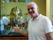 شاهد.. رئيس الفيفا من المتحف المصرى: تاريخ مذهل ومستقبل عظيم لمصر