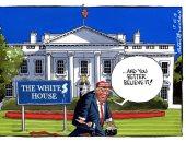 """كاريكاتير """"التايمز"""".. البيت الأبيض يتحول إلى """"بيت للبيض فقط"""" فى عهد ترامب"""