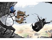"""كاريكاتير الصحف السعودية.. السياسات الإيرانية """"انتحار"""""""