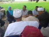 صور.. ندوات إرشادية للمزارعين عن محصول الأرز بمشروع ترشيد المياه بالشرقية